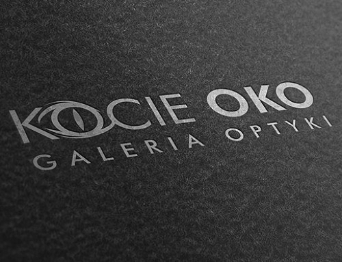 Projekt logo Kocie Oko galeria ioptyki